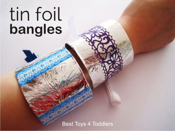 Aluminium Foil Bangles for dress up party