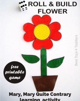 Mary, Mary Quite Contrary Roll & Build Flower Game