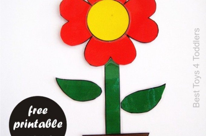 Roll and Build Flower Free Printable Game