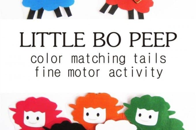 Little Bo Peep Color Matching Tails Activity