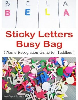 Sticky Letters Busy Bag