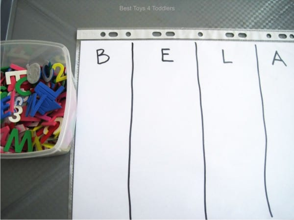 Easy Name Recognition Busy Bag / Tot Tray for Toddlers
