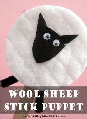 Wool Sheep Stick Puppet