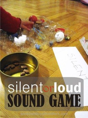 SILENT OR LOUD SOUND GAME FOR TODDLERS