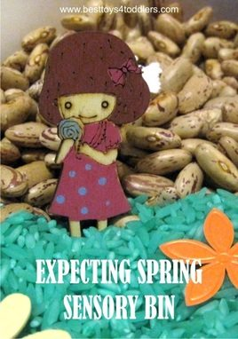 Expecting Spring Sensory Bin