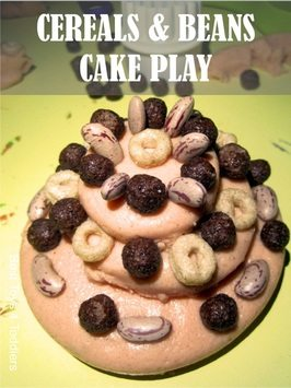 Cereals and Beans Cake Play