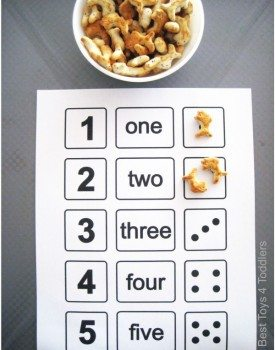 1-2-3-4-5 Fish Crackers Counting Activity