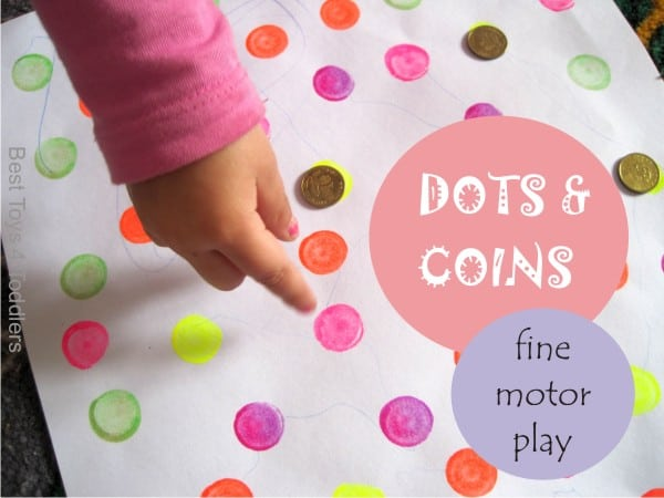 Dot a dot marker and coins fine motor activity for toddlers and preschoolers
