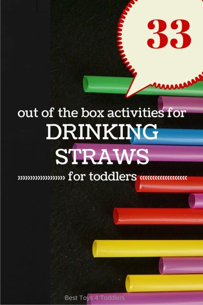 Easy drinking straw activities for kids including math, art, fine motor skills and much more