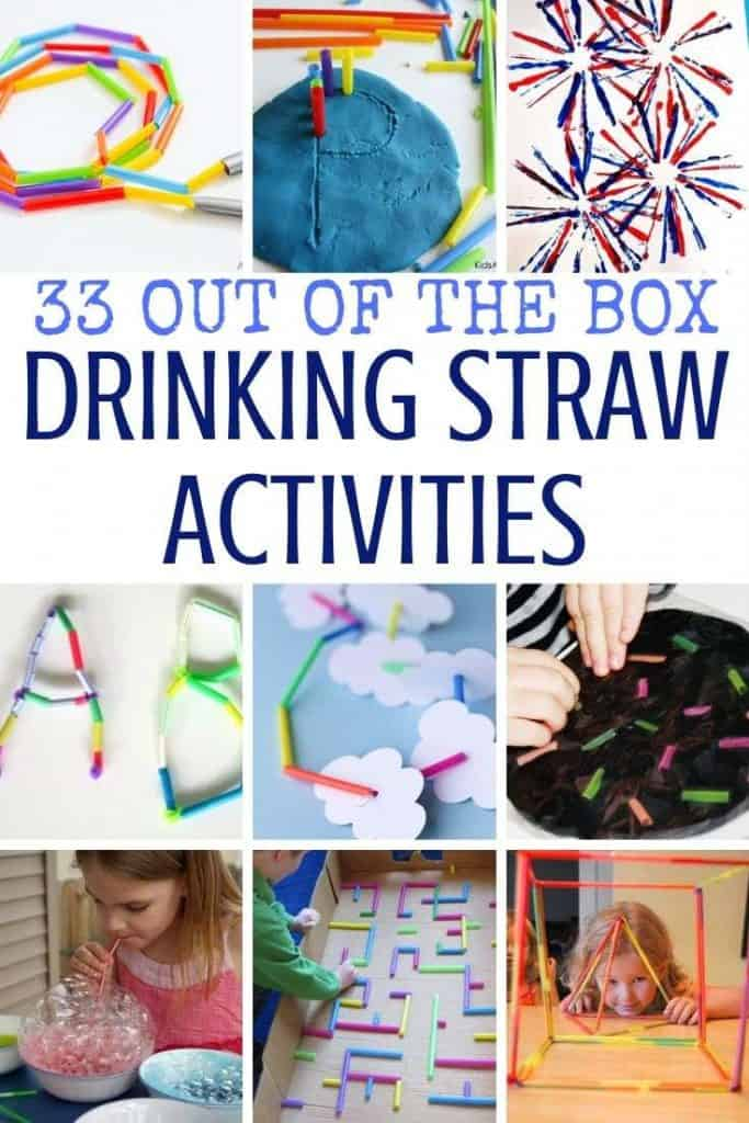 Best activities with drinking straws for toddlers, preschoolers and older kids including fine motor practice, STEM and STEAM activities along with many more.
