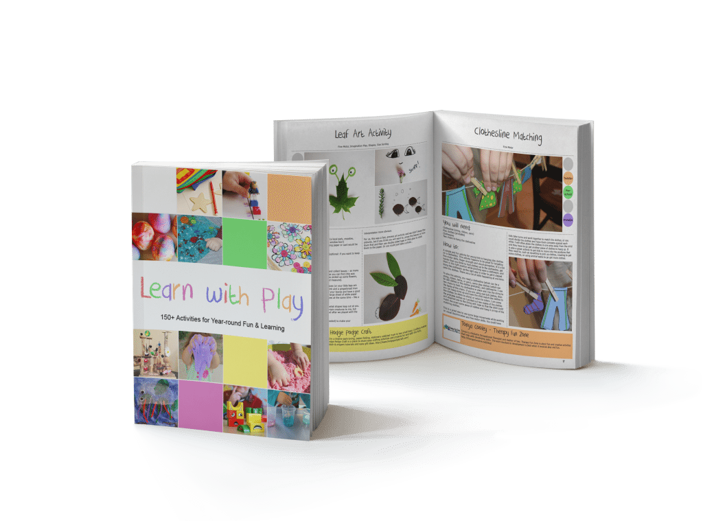 Learn with Play book with 150+ ideas for kids age 1-6 to use every day and for holidays