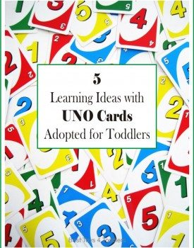 5 Learning Ideas with UNO Cards Adapted for Toddlers and Preschoolers