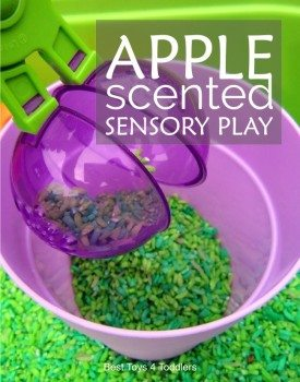 Apple Scented Sensory Play for Toddlers