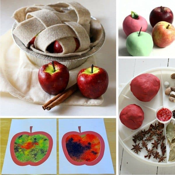 33 Sensory play ideas - all about and with apples, perfect for fall play!