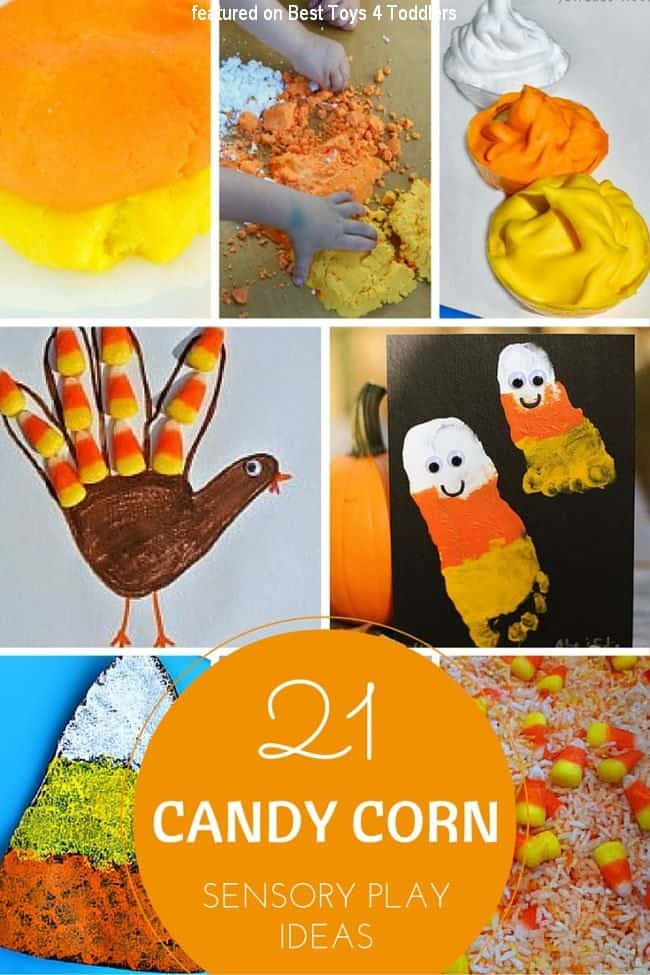 21 sensory play ideas for kids with candy corn to enjoy this fall and Halloween