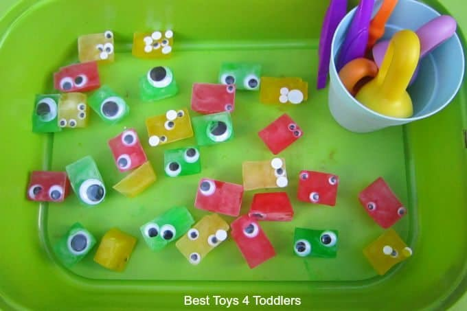 Fine motor skill googly eye monsters