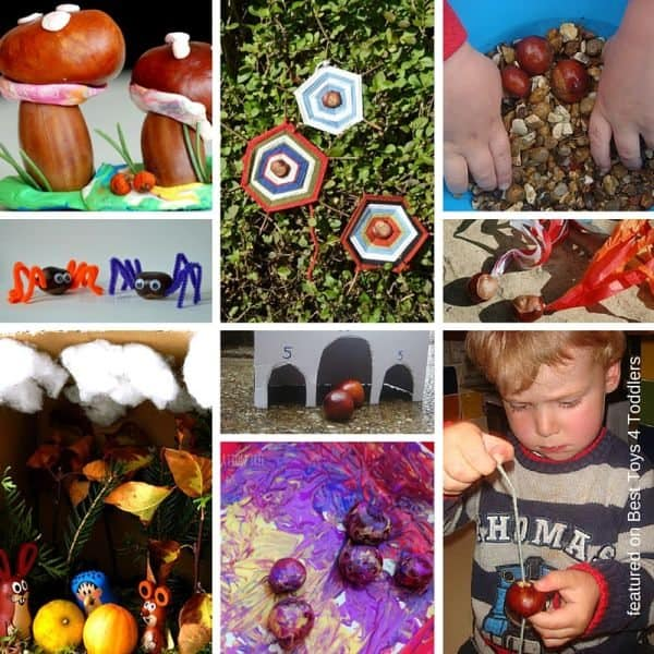 How to play and craft with chestnuts - 33 different ideas to try!