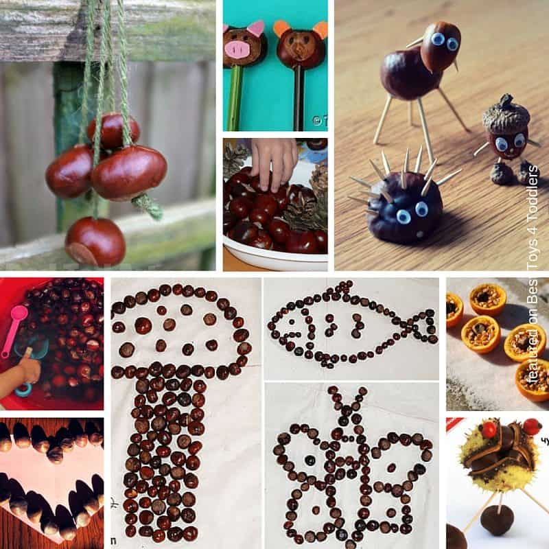 Play activities and crafts with conckers to do with kids this autumn!