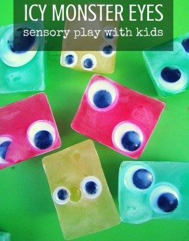 Icy Eyes Monsters Sensory Play for Kids