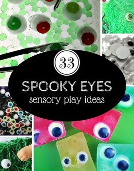 33 sensory play ideas with spooky eyes to enjoy this Halloween!