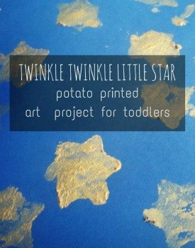 Twinkle Twinkle Little Star Potato Stamp Art for Toddlers