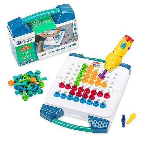 Best educational toys for 3 year old preschoolers - Educational Insights Design & Drill Take-Along Toolkit