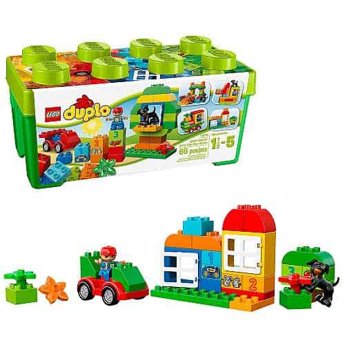 LEGO DUPLO All-in-One-Box-of-Fun Building Kit Open Ended Toy for Imaginative Play with Large LEGO bricks made for toddlers and preschoolers
