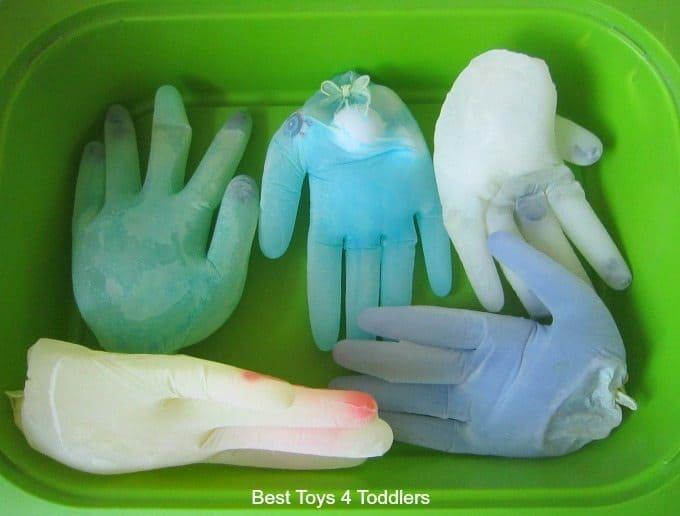 Latex frozen gloves