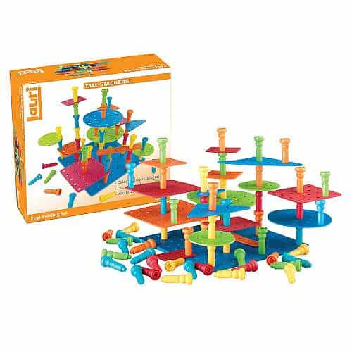 Top learning toys for 3 year olds - Lauri Tall-Stackers - Pegs Building Set