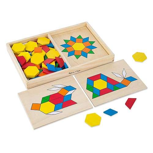 Melissa & Doug Pattern Blocks and Boards set