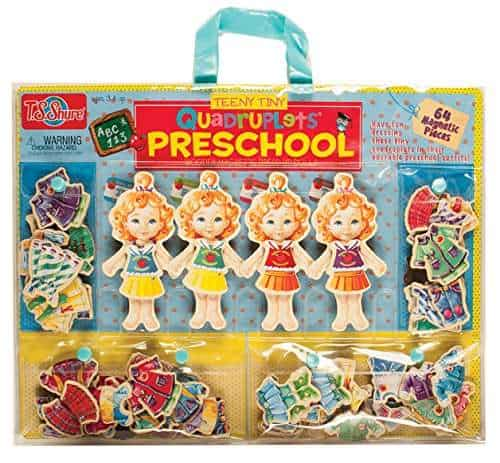 Shure Teeny Tiny Quadruplets Preschool Wooden Magnetic Dress-Up Dolls