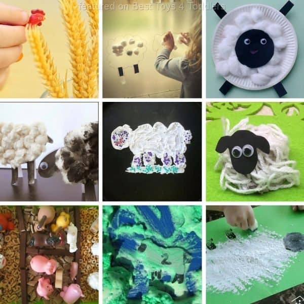 Fun ideas for sensory play with farm animals