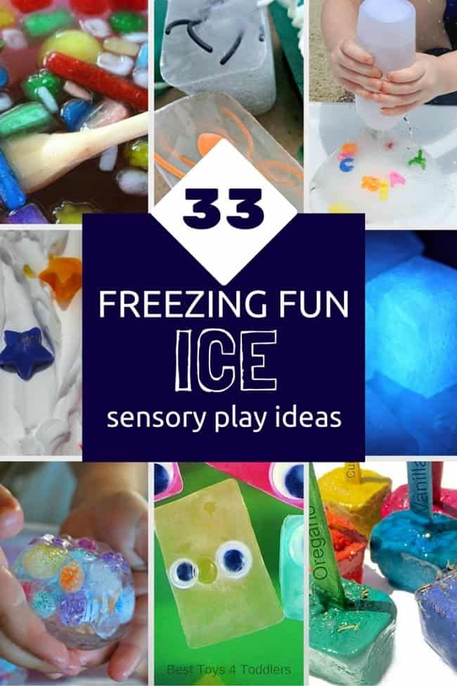 33 Freezing & Fun Ice Sensory Activities - pick some to explore with your kids!