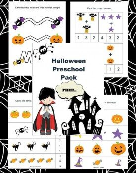 Free Halloween Printable Pack for Preschoolers