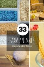 33 Ideas for Sensory Play with Farm Animals