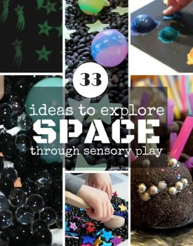 33 Ideas to Explore Space Through Sensory Play