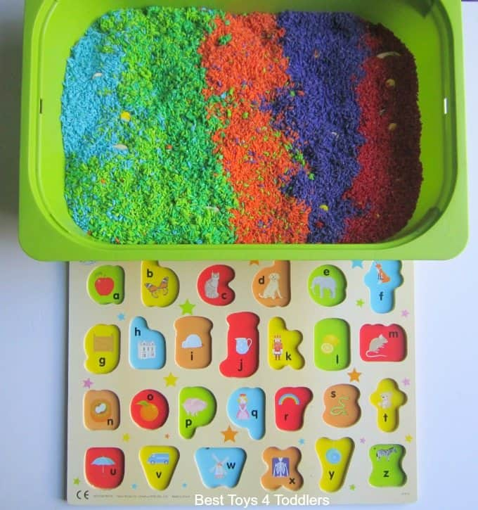 Finding the alphabet in coloured rice