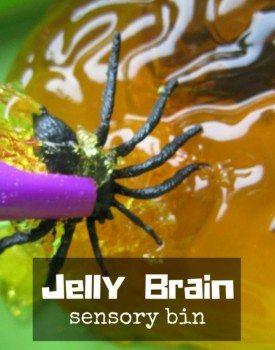 Jelly Brain Sensory Bin