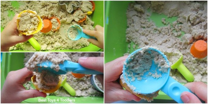 Kinetic sand ice cream cones