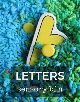 Letters Sensory Bin