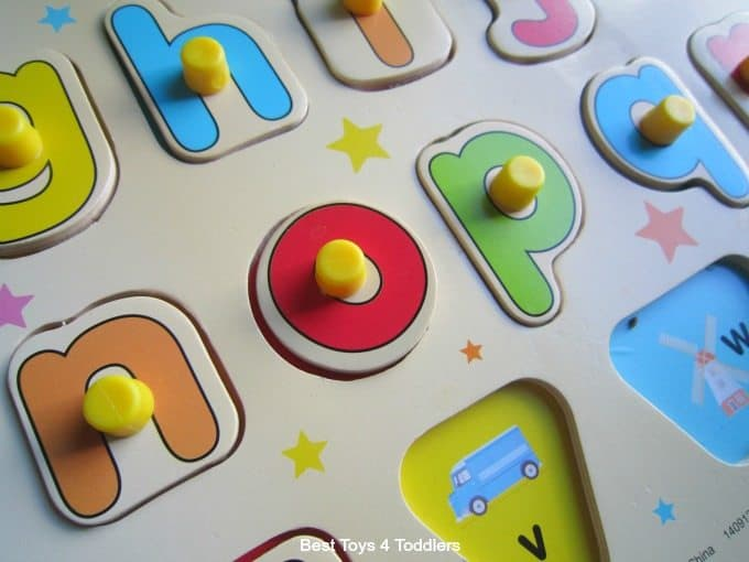 Wooden alphabet puzzle play