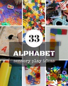 33 Alphabet Sensory Play Ideas for Toddlers and Preschoolers