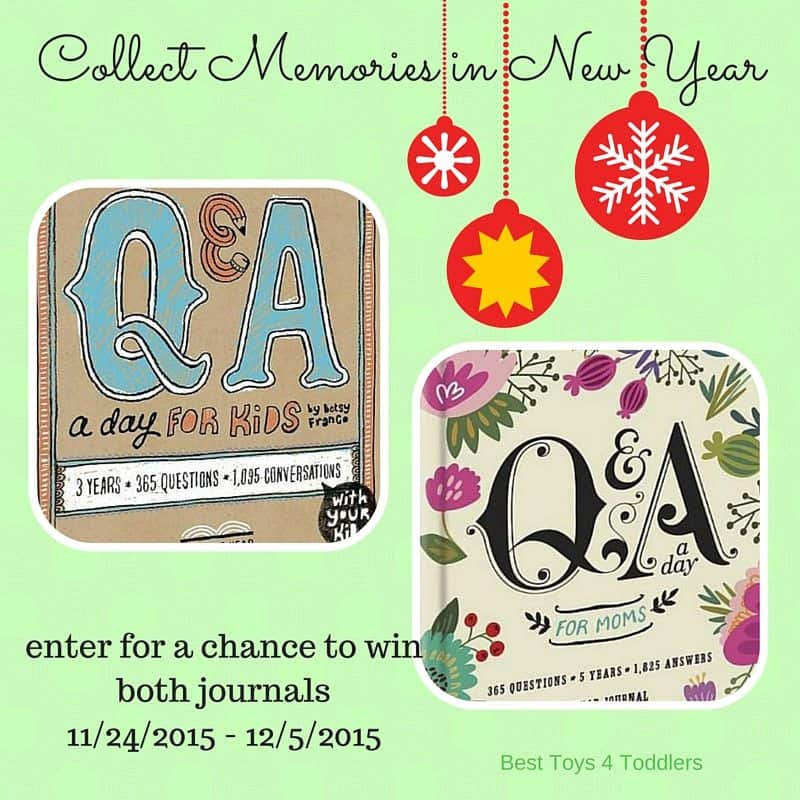 Creating memories in New Year - Q & A a Day for Mom and Kiddo (giveaway)