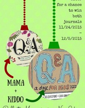 Mama and Kiddo Creating Memories in a New Year + Win 2 Q&A a Day Journals