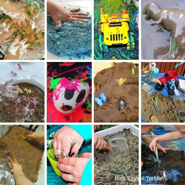 mud, worms, paint and other fun messy sensory play ideas for kids of all age