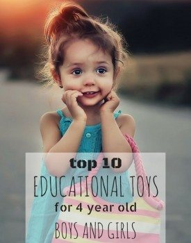 Best educational toys for little 4 year old girls and boys.