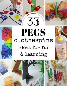 33 Ideas for Playful Learning with Clothespins