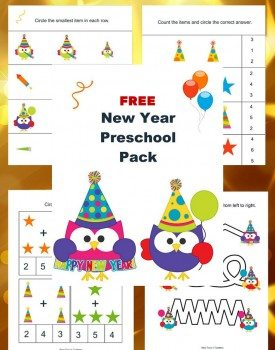 Free New Year Printable Pack for Preschoolers