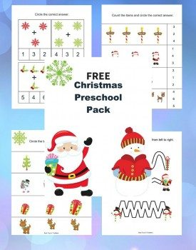 Free Christmas Printable Pack for Preschoolers
