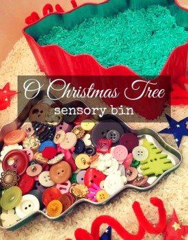 Christmas Tree Sensory Bin